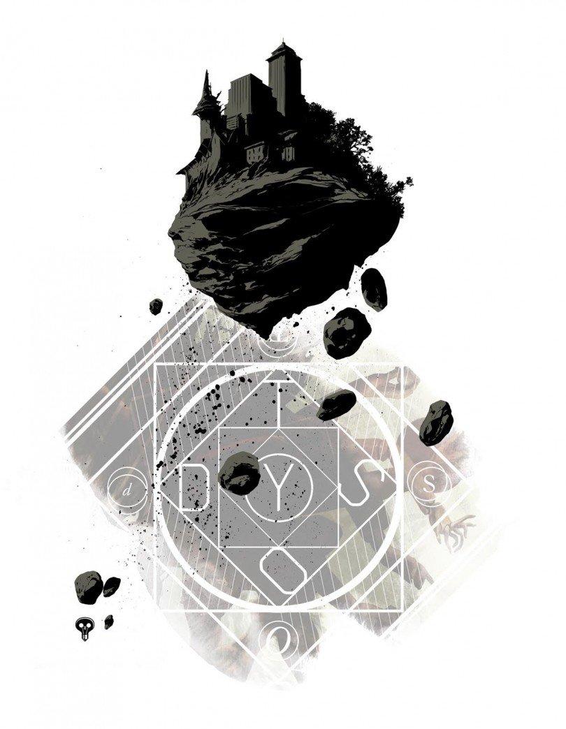 Affiche Dystopia par Stéphane Perger (sérigraphie au format A3)