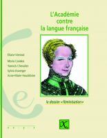 L'Académie contre la langue française