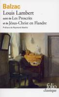 Louis Lambert Les proscrits Jésus-Christ en Flandre