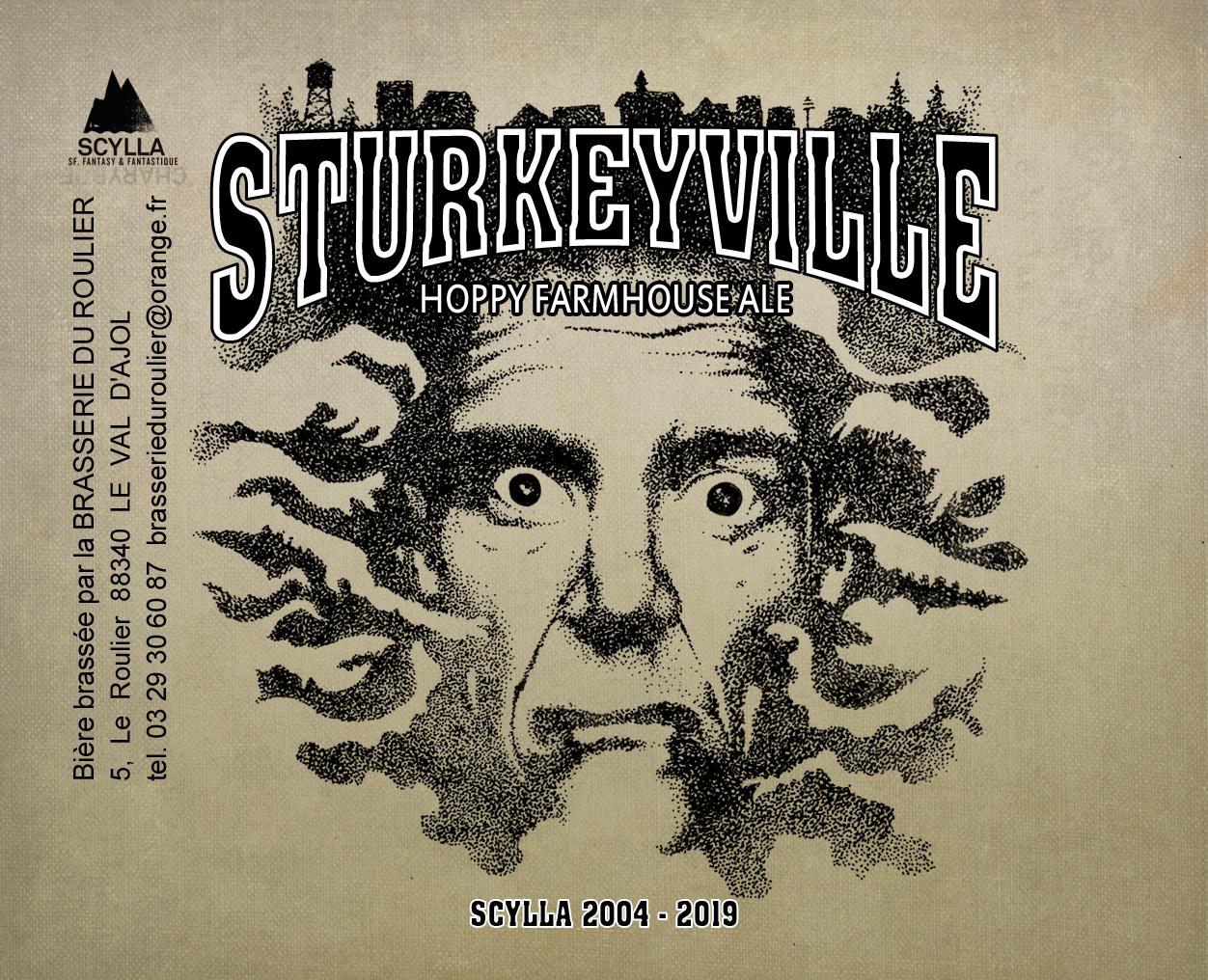 """Une bouteille de la bière """"La Sturkeyville"""" brassée spécialement pour l'occasion (33 cl)"""