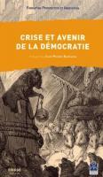 Crise et avenir de la démocratie