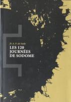 Les 120 journées de Sodome : Ou l'Ecole du libertinage