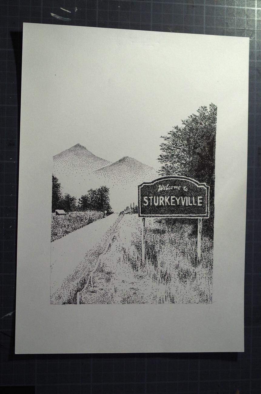 """Original """"Sturkeyville"""" (format A4)"""