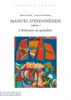 Manuel d'indonésien volume 1