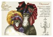Carte postale Chat enchanté : Charnaval de Séverine PINEAUX