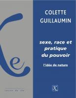 Sexe, race et pratique du pouvoir